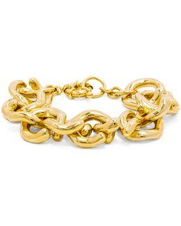 Gold Mary Links Bracelet