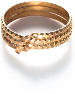 By Boe Knotted Scalloped Ring