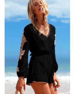 Gianna Romper Black