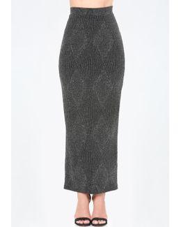 Glitter Maxi Skirt