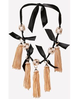 Tassel Ribbon Necklace