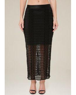 Lace Bodycon Maxi Skirt
