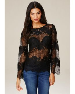 Placed Lace Top