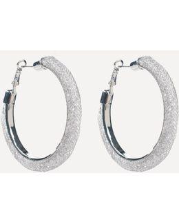 Crystal Wide Hoop Earrings