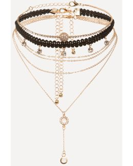 Lace & Lariat Choker Set