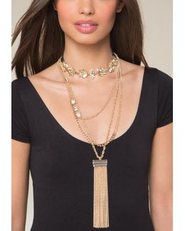 Layered Lariat & Choker Set