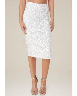 Kate Lace Midi Skirt