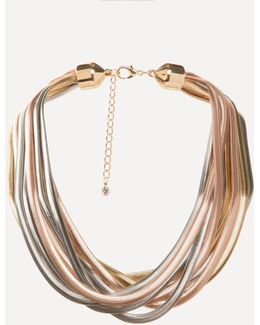 Multi-hue Metal Necklace