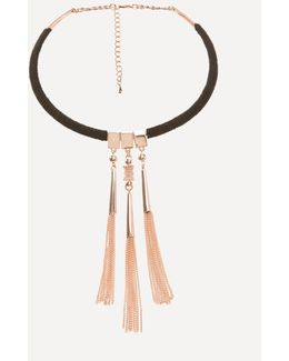 Tassel Collar Necklace