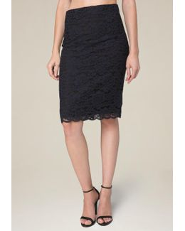Floral Lace 2-tone Skirt