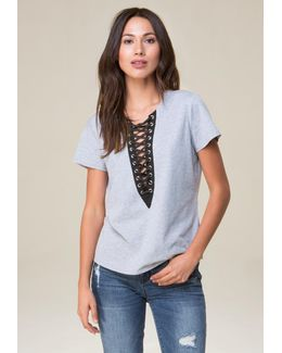 Marian Lace Up Top