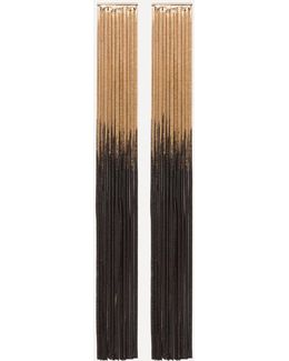 Ombre Long Fringe Earrings