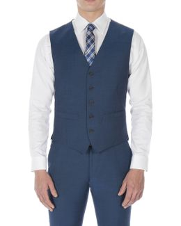 Dark Teal Blue Tonic Camden Waistcoat