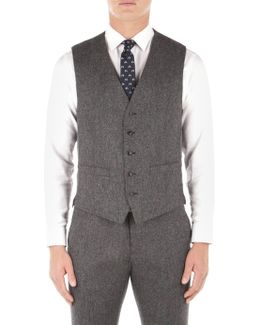Smoked Pearl British Tweed Waistcoat