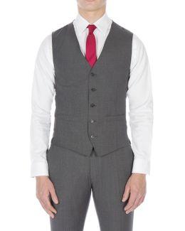 Grey Puppytooth Waistcoat