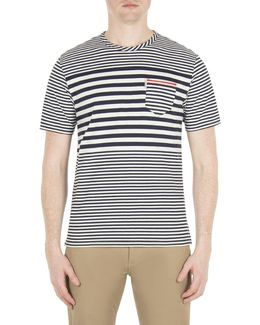 Engineered Stripe Styled T-shirt