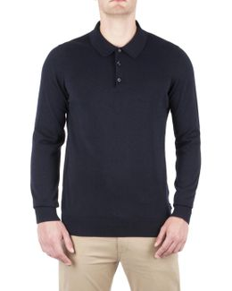 Cotton Long Sleeve Polo