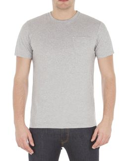 Plain Pocket Crew Neck T-shirt