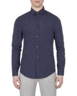 Long Sleeve Textured Spot Shirt