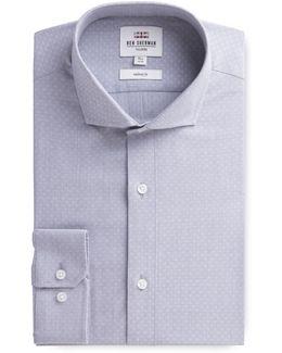 Long Sleeve Grey Dobby Formal Shirt