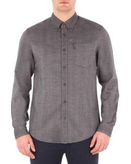 Long Sleeve Brushed Plain Shirt