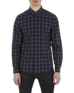 Long Sleeve Yarn Windowpane Shirt