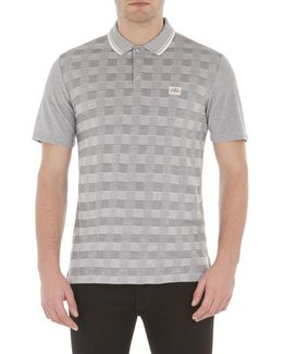 Two Tone Pique Checkerboard Polo