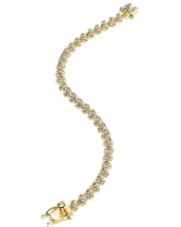 Yellow Gold Plated Pave Crystal Mini Cone Bracelet