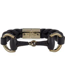 Leather Bracelet With Horsebit Detail