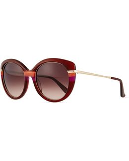 Butterfly Sunglasses With Golden Detail