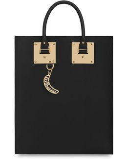 Leather Tote Bag With Whistle Charm