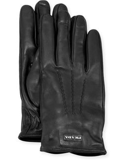 Napa Leather Gloves W/ Logo