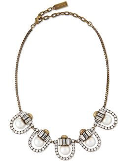 Lana Crystal-pearl-station Necklace