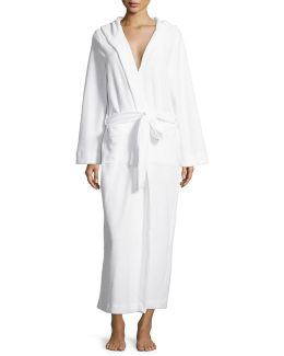 Long Hooded Plush Robe