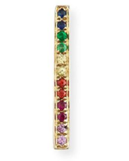 14k Rainbow Bar Single Stud Earring