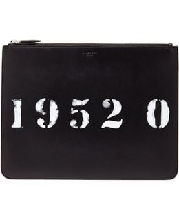 Codification Leather Pouch