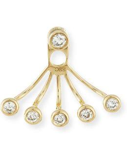 Bezel-set Diamond Jacket Earring