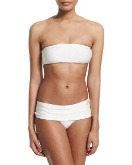 Rafia Bandeau Two-piece Swimsuit
