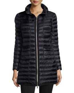 Quilted Four-pocket Down Coat