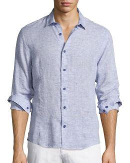 Morton Long-sleeve Linen Shirt