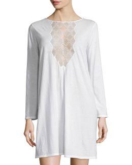 Tranquility Lace-inset Sleepshirt