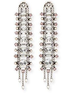 Almendra Elongated Crystal Drop Earrings