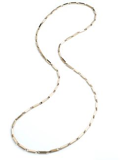 Large 14k Gold Peaked Link Necklace