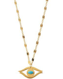 Beyah Turquoise Evil Eye Pendant Necklace
