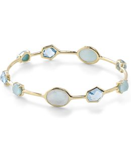 18k Rock Candy 8-stone Bangle In Waterfall
