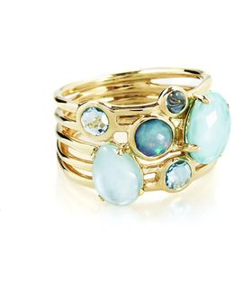 18k Gold Rock Candy Gelato 6-stone Cluster Ring In Waterfall