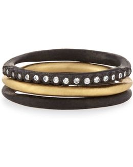 Old World Midnight Stacking Rings