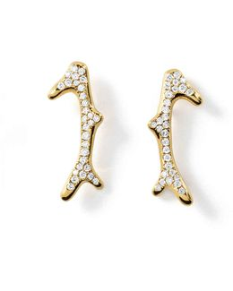 18k Glamazon Pavé Diamond Reef Earrings