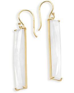 18k Polished Rock Candy Mother-of-pearl Drop Earrings