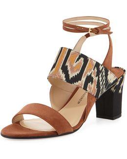 Xiamen Suede Ankle-wrap Sandal